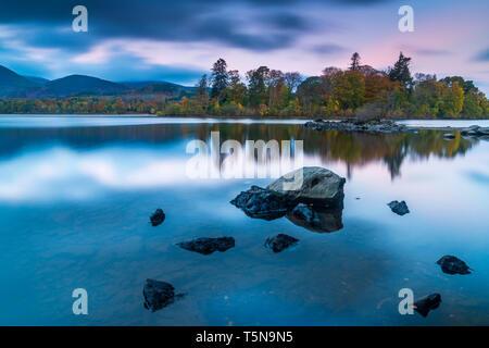 Derwent Water, Keswick, Lake District National Park, Cumbria, England, UK, Europe. - Stock Image