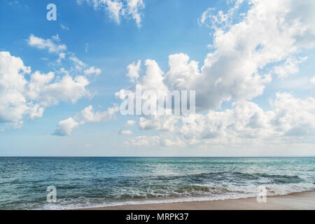 beach with cloudy day - Stock Image