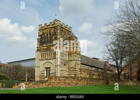 The church of St Peter, considered to be the most outstanding Norman church in the county, Northampton, Northamptonshire, UK - Stock Image