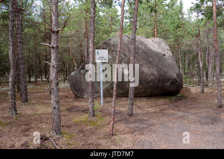 Boulder named Liiva-aia kivi in village Linaküla. Kihnu island. Estonia 5th August 2017 - Stock Image