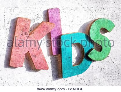 kids (word) - Stock Image