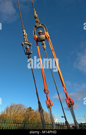 The Burghead Medium and Long wave radio transmission site and antennae In Morayshire Grampian Scotland UK. - Stock Image