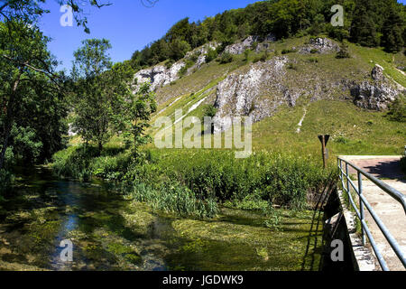Small pure valley, Swabian nightmare, bathing Wurttemberg, Germany, Kleines Lautertal, Schwäbische Alb, Baden - Stock Image