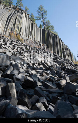 Devils Postpile, National Monument, Mammoth Mountain, Mammoth Lakes, California, USA - Stock Image