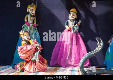 Folk puppets or marionettes, northern India - Stock Image