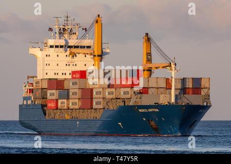 Feedervessel Mercs Jaffna - Stock Image
