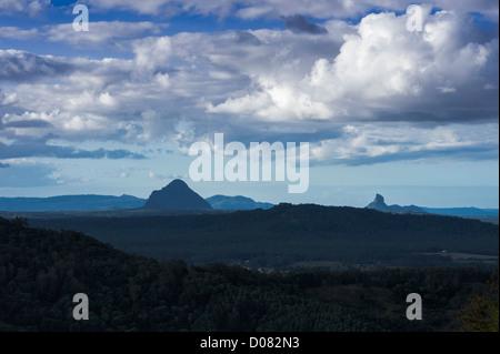Glasshouse Mountains, Sunshine Coast Queensland Australia - Stock Image