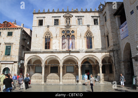 Sponza Palace, Luza Square, Dubrovnik, Dubrovnik-Neretva, Dalmatia, Croatia, Balkans, Adriatic Sea, Europe - Stock Image