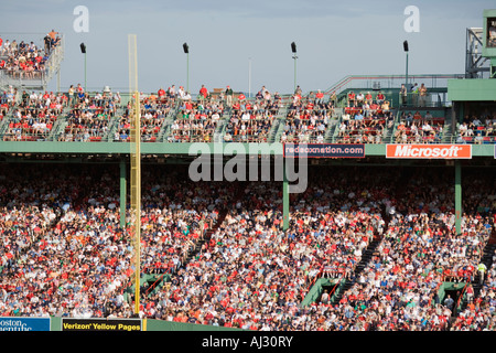 Pesky pole and crowd at Fenway Park, home of the Boston Red Sox, 2007 World Series Champions - Stock Image