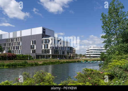 University of Northampton, Waterside Campus, a new build due to open in September 2018; Northampton, UK - Stock Image