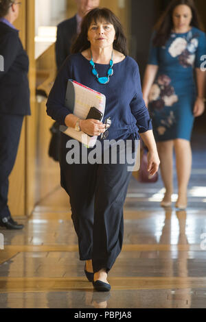 Politicians attend the Scottish First Minister's Questions at Holyrood.  Featuring: Jeane Freeman Where: Edinburgh, United Kingdom When: 28 Jun 2018 Credit: Euan Cherry/WENN - Stock Image