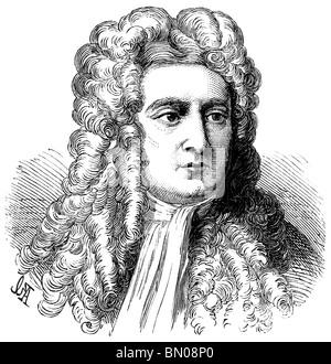 Portrait of Sir Isaac Newton - Stock Image