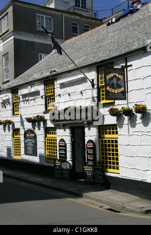 The Admiral Benbow Public House, Penzance, Cornwall. - Stock Image