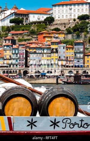 Postcard from Porto, Portugal - Stock Image