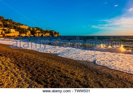 Playa de la Herradura (beach), Granada Province, Andalusia, Spain. - Stock Image