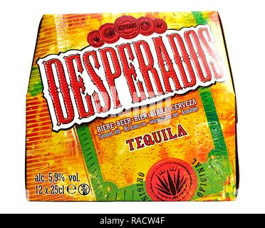 Desparados 12 pack bottles of beer with tequila - Stock Image