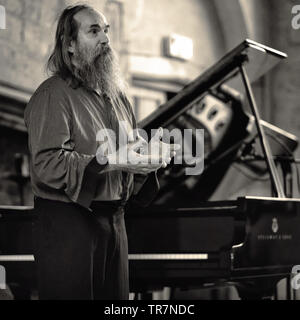 Pianist Lubomyr Melnyk on stage at Seachange festival, UK. 2019 - Stock Image