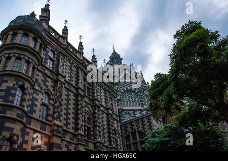 The Rafael Uribe Uribe Palace of Culture in medellin, Colombia - Stock Image