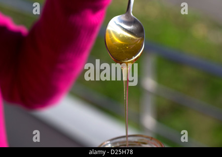 A spoon with honey - Stock Image