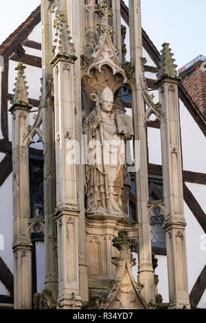 A detail from the High Cross or Butter Cross in Winchester, a medieval holy cross dating back to the C14th - Stock Image
