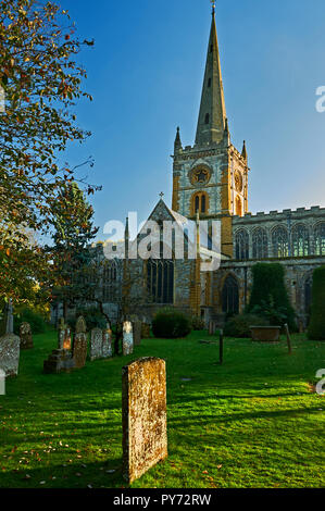Holy Trinity church, burial place of William Shakespeare, in Stratford upon Avon, Warwickshire. - Stock Image
