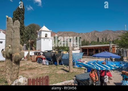 Argentina, Jujuy province, Quebrada de Humahuaca listed as World Heritage of UNESCO, Uquia village - Stock Image