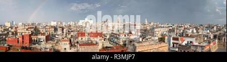 Cuba, Havana. Panoramic of rainbow over city. Credit as: Wendy Kaveney / Jaynes Gallery / DanitaDelimont.com - Stock Image