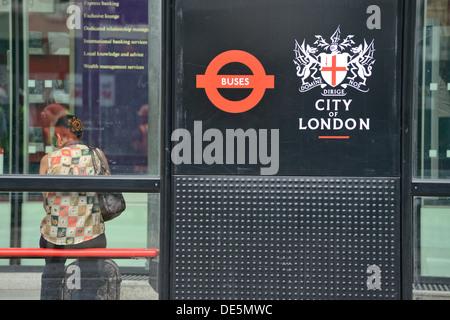 Bus stop - Stock Image