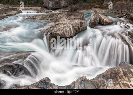 Natural Bridge Yoho Alberta - Stock Image