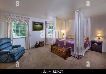 Architectural Bedroom Interior Philadelphia USA - Stock Image