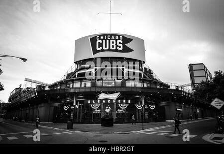 Bleachers entrance. Wrigley Field is a baseball park located on the North Side of Chicago, Illinois. It is the home - Stock Image