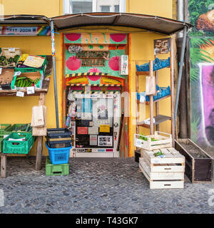 Berlin Mitte Schwedter strasse . BioKraftKeller, organic food store run by a co-operatve - Stock Image
