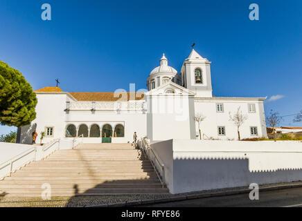 Castro Marim Portugal. Church Nossa Senhora dos Martires Castro Marim, Algarve, Portugal. - Stock Image