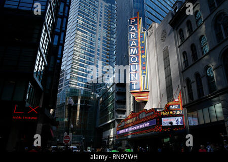 Paramount Theater marquee downtown Boston Massachusetts USA - Stock Image