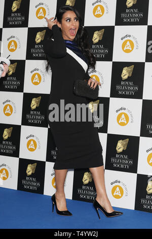 The Royal Television Society Awards (RTS Awards) 2019 held at Grosvenor House Hotel - Arrivals  Featuring: Sair Khan Where: London, United Kingdom When: 19 Mar 2019 Credit: Lia Toby/WENN.com - Stock Image