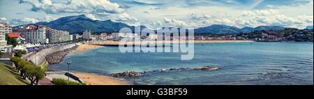 Saint Jean de Luz beach in Pays Basque, France - Stock Image