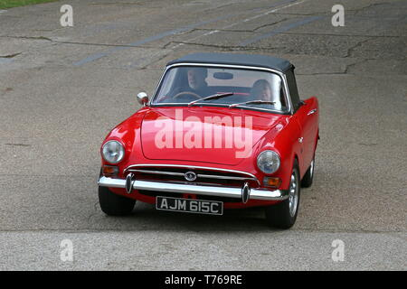 Sunbeam Tiger Mark 1 (1965), British Marques Day, 28 April 2019, Brooklands Museum, Weybridge, Surrey, England, Great Britain, UK, Europe - Stock Image