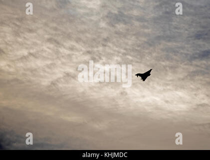 Eurofighter Typhoon Twin Engined Jet Aircraft based at RAF Lossiemouth in North East Scotland. - Stock Image