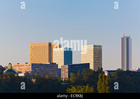 OFFICE BUILDINGS, EUROPEAN UNION, EUROPEAN QUARTER, KIRCHBERG DISTRICT, LUXEMBOURG CITY, LUXEMBURG, LUXEMBOURG - Stock Image