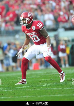 Pasadena, California, USA. 01st Jan, 2018. Oklahoma Sooners defensive back Steven Parker #10 during the 2018 Rose - Stock Image