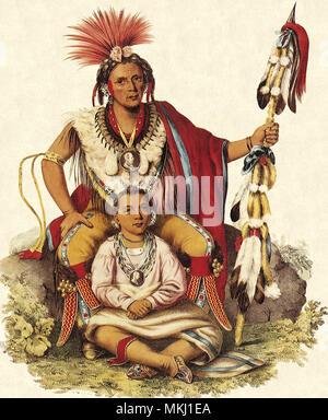 Keokuk and a Child - Stock Image
