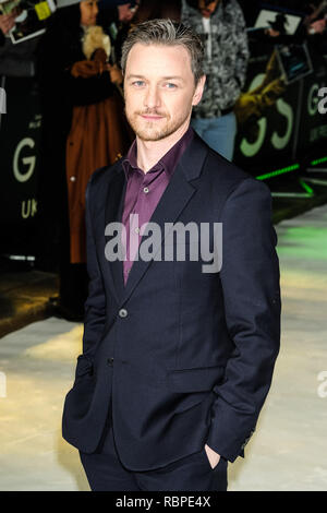 James McAvoy at the UK Premiere of GLASS on Wednesday 9 January 2019 held at Curzon, Mayfair, London. Pictured: James McAvoy. Picture by Julie Edwards/LFI/Avalon.  All usages must be credited Julie Edwards/LFI/Avalon. - Stock Image