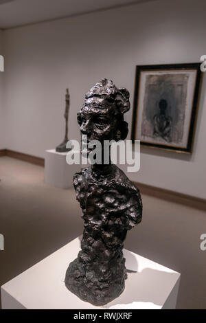 Annette VI, Bronze Sculpture by Alberto Giacometti, The Metropolitan Museum of Art, Manhattan, New York USA - Stock Image