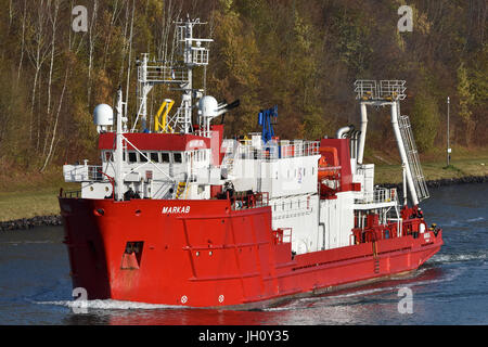 Research Vessel Markab in the Kiel Canal - Stock Image