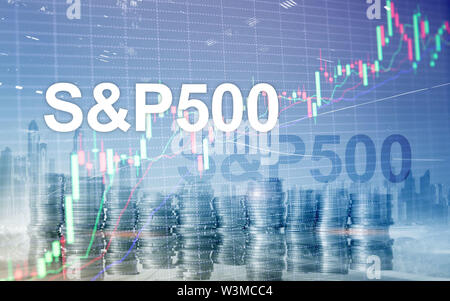 American stock market index S P 500 - SPX. Financial Trading Business concept - Stock Image