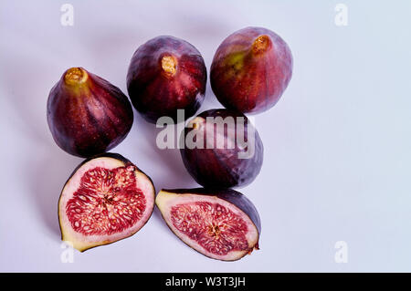 figs isolated on white background - Stock Image