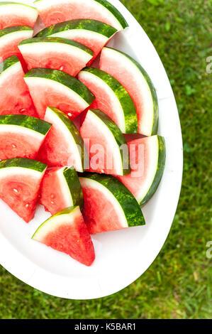 watermelon sliced - Stock Image