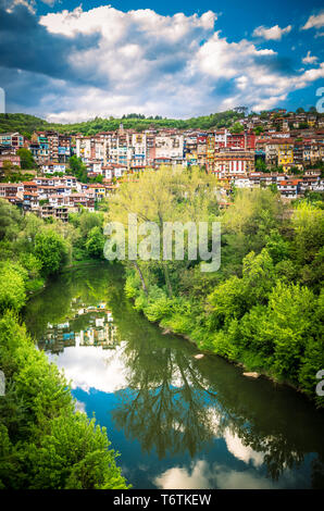 Veliko Tarnovo town, Bulgaria. The old city is located in north central of Bulgaria - Stock Image