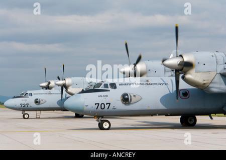 Croatian Air Force An-32B transport fleet - Stock Image