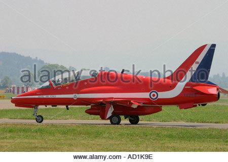 Zeltweg 2005 AirPower 05 airshow Austria Red Arrows Hawk team - Stock Image